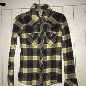 True Religion flannel snap button down size xs